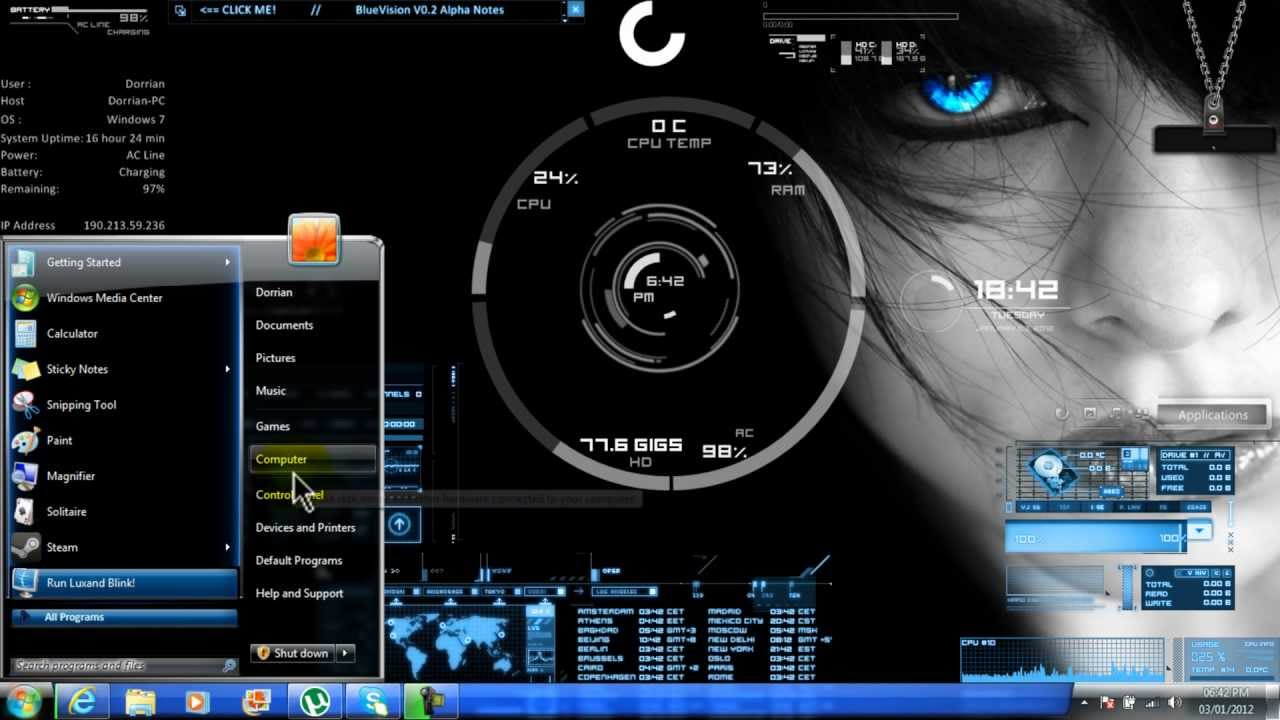 window 7 new themes free download