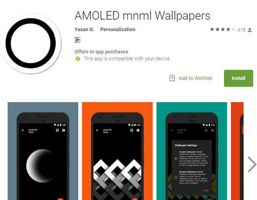AMOLED mnml Wallpapers