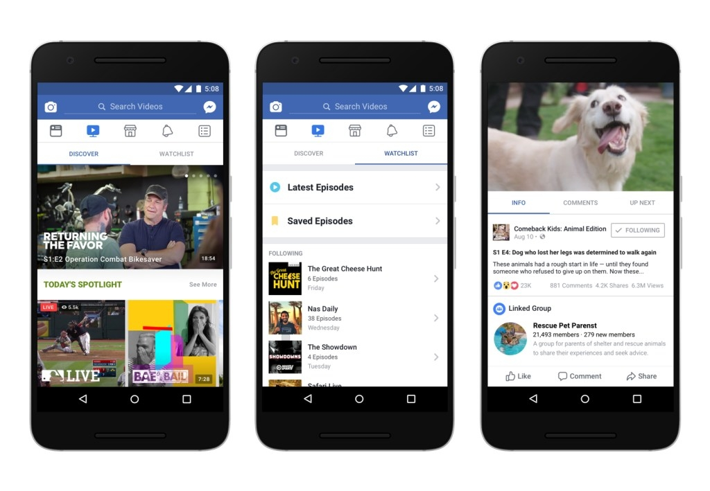 Facebook 'Watch' section launches as a platform for TV shows