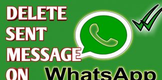 delete sent messages on whatsapp