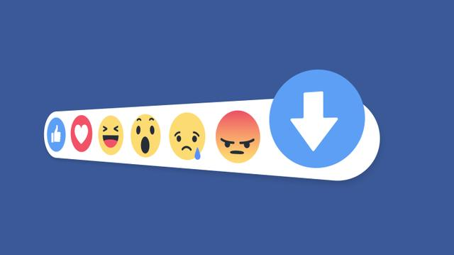 facebook down vote button