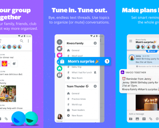 Yahoo Together app, Yahoo Together group chat app