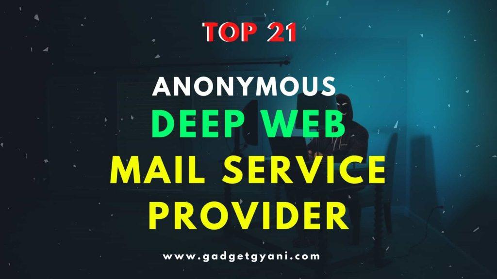 Deep Web Email Service, deep web email service providers